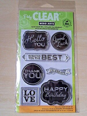 Hero Arts -clear Stamps - Happy Birthday/thank You  - 7 Stamps • 5.95£