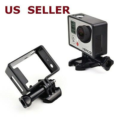 $ CDN8.86 • Buy Black Standard Frame Border Housing Case Mount For GoPro Hero 3 Hero 3+ Hero 4