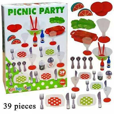 £110.80 • Buy Childrens Picnic Party Plastic Play Fun Accessories 39pcs Xmas Gift Toy Set