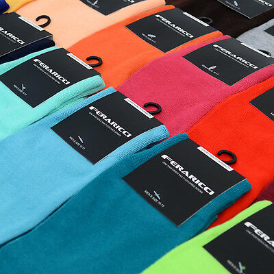 $8.99 • Buy Men's Bold Colorful Solid Dress Or Casual Socks 10 - 13 New
