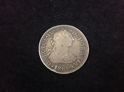 $ CDN118.62 • Buy Mexico 1789 FM ( CAROLUS IV ) 2 Reales ☆Colonial Period ☆ Pillar Silver Coin