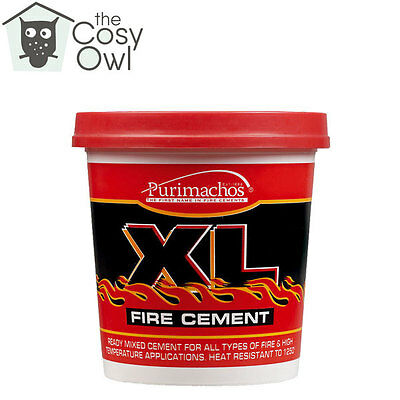 Everbuild XL Buff Fire Furnace Pipe Cement High Temperature For Stoves 1KG • 7.20£
