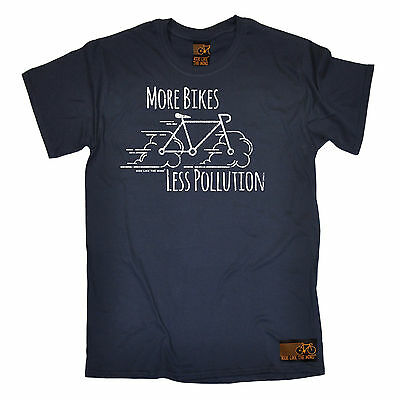 $ CDN16.59 • Buy More Bikes Less Pollution MENS RLTW T-SHIRT Tee Cyclist Bicycle Birthday Gift