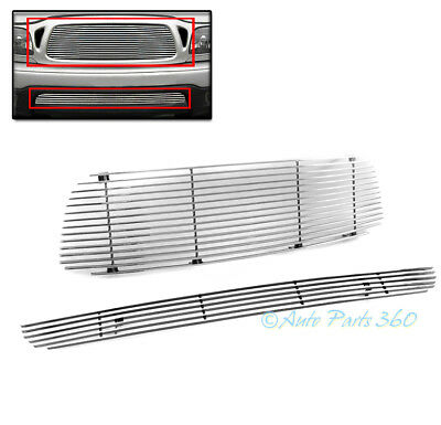 $76.95 • Buy 01-04 Toyota Tacoma Upper + Bumper Billet Grille Grill Insert Combo Replacement