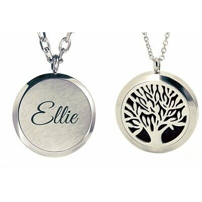 AU14.49 • Buy Personalised Tree Of Life Aromatherapy Essential Oil Diffuser Necklace