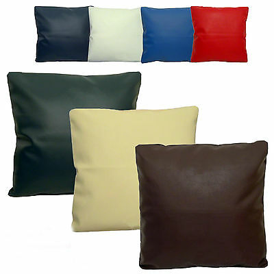 "2 Oxblood Classic Faux Leather Cushion Covers 16/"" 18/"" 20/"" Scatter Pillows"