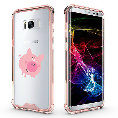$ CDN20.10 • Buy For Samsung Galaxy S7 Edge S8 S9 + Clear Shockproof Bumper Case Cover Happy Pig