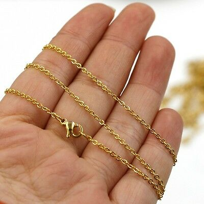 45cm Long  Gold Plated Stainless Steel Fine Necklace Chain • 3.59£
