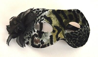 NEW Animal Printed Fabric Masquerade Half Face Mask Eye Gothic Halloween Costume • 4.99£