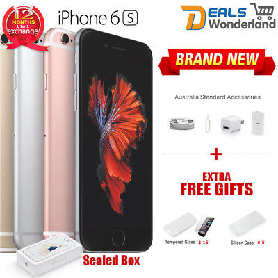 AU289.95 • Buy Sealed Box Apple IPhone 6S 64GB Smartphone Grey Silver Gold Unlocked Phone