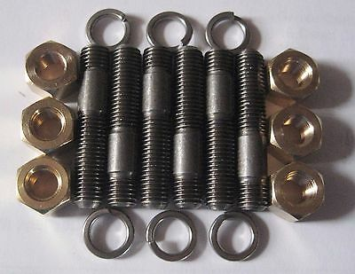 MGB Exhaust Manifold To Head Studs And Brass Nuts. - Suits 18V Engines • 7.78£