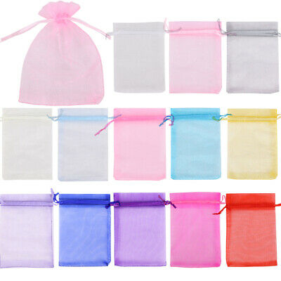 £4.28 • Buy 25- 100 ORGANZA GIFT BAGS Large Small Wedding Party Favour Jewellery Candy Pouch