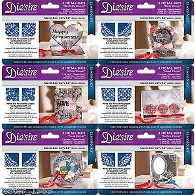 Crafters Companion Die'sire Classiques Corner Dies Lace Heart Butterfly Lattice • 4.99£