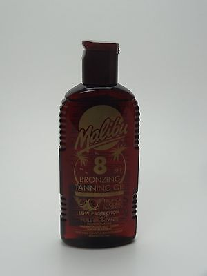Malibu Fast Bronzing Tanning Oil SPF 8 With Tropical Coconut Fragrance 200ml • 4.99£