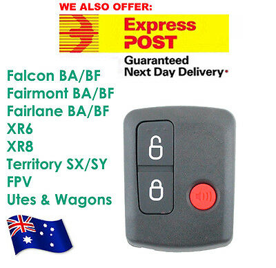 AU8.70 • Buy Ford Remote Control BA/BF Falcon Territory SX/SY/Ute/Wagon 02-10 3 Button