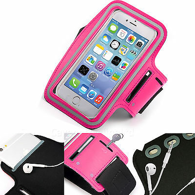 Sports Gym Armband Cover Jogging Cycle Running Arm Holder Case Cell Phone PINK • 4.99£