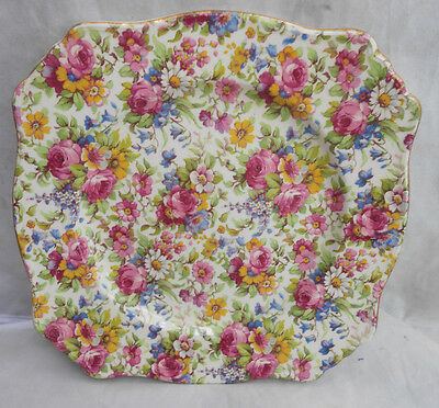 $ CDN124.02 • Buy 3 Royal Winton Grimwades Summertime Chintz Salad Plates Gold Vintage 7 3/4