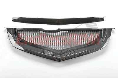 $299 • Buy Acura TL 04 05 06 07 08 Mesh Shark Mouth Front Grill - Carbon Fiber SHIP FROM US