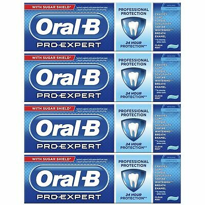 View Details 4 Oral-B Pro Expert Professional Protection Toothpaste Whitening Clean Mint 75ml • 10.88£