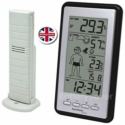 Technoline WS 9632-IT Weather Boy- Temperature And Humidity With Wireless Sensor • 29.95£