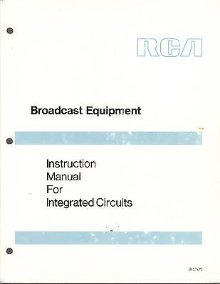 $29.99 • Buy RCA BROADCAST INSTRUCTION MANUAL For INTEGRATED CIRCUITS