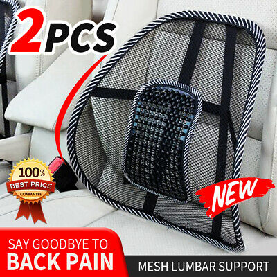 AU11.95 • Buy Mesh Back Rest Lumbar Support Office Chair Van Car Seat Home Pillow Cushion