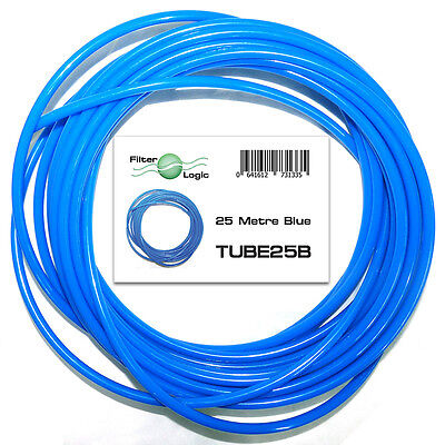 """£9.99 • Buy 25 Metres 1/4"""" 6.4mm OD LDPE Tubing Pipe For RO Systems & Fridge Water Filters"""