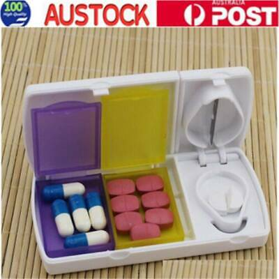 AU9.95 • Buy Pill Cutter Box Tablet Splitter Divider Convenient Portable Medicine Organizer