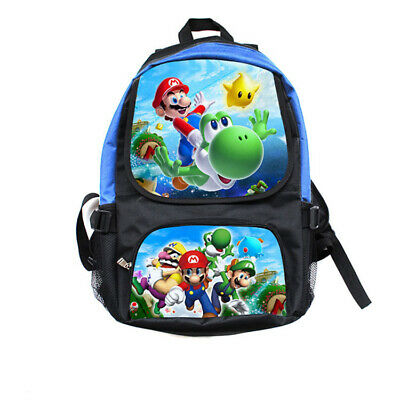 Super Mario School Bag Boy Backpack Girl Waterproof Shoulders Bag Anime Cosplay • 11.99£