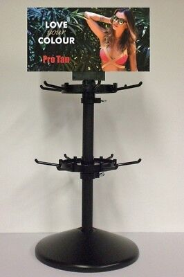 Pro Tan Rotating Sachet Display Stand For Sunbed Tanning Lotion Sachets 12 Hooks • 28.99£