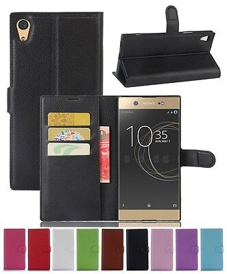 AU6.69 • Buy Wallet Leather Flip Card Case Cover For Sony Xperia XA1 Ultra Genuine AuSeller