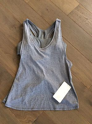 $ CDN80 • Buy Lululemon Glide And Stride Tank Top 12 NWT Grey With Cups