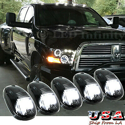 $48.54 • Buy 5x Smoked Lens Rooftop Cab Running Light LED 6000K For Dodge RAM 1500 2500 3500