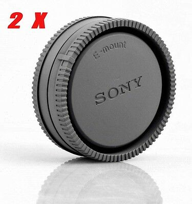 $ CDN9.32 • Buy 2X Sony Camera Body Cover + Lens Rear Cap For Sony A6500 A6300 A5100 NEX-7 A7RII