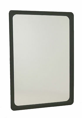 Acrylic Mirror In Black Shatterproof Frame With Fixings A4 Mirror A3 Mirror • 12.49£