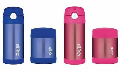 AU47.95 • Buy NEW THERMOS FUNTAINER 355ml DRINK BOTTLE + 290ml FOOD JAR Insulated BLUE PINK