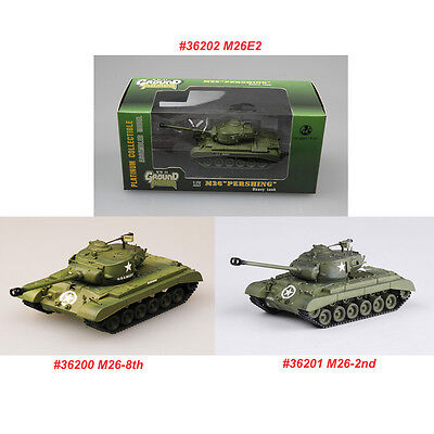 $27.99 • Buy Easy Model Finished 36200 36201 36202 1/72 USM26 Pershing Tank-8th/2nd Div/M26E2