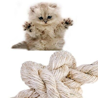 New Natural Sisal Rope Coils, Cats, Garden, Decking, Pets, Cat Scratching Post • 3.85£