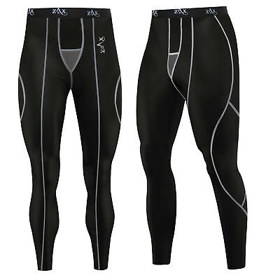 Mens Compression Tights / Trousers Running Base Layer Pants Leggings BLACK • 8.99£