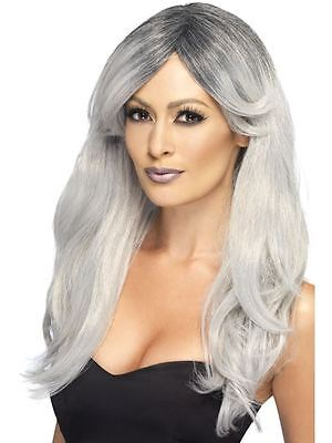 Adult Ladies Grey Ombre Ghostly Zombie Bride Wig Fancy Dress Halloween Accessory • 13.41£