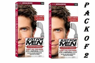 £19.29 • Buy Just For Men Autostop Haircolour Medium Brown A-35 -2 Pack