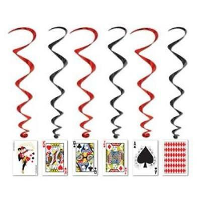 $4.59 • Buy Playing Cards Whirls 5 Pack Casino Vegas Gambling Party Hanging Decoration