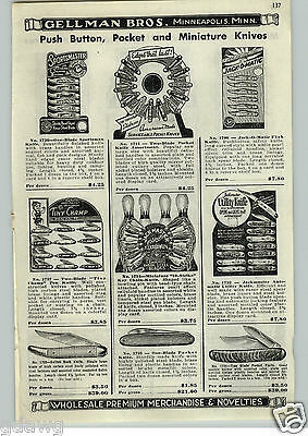 $ CDN17.66 • Buy 1952 PAPER AD Jackmaster Automatic Press The Button Pocket Knife Knives