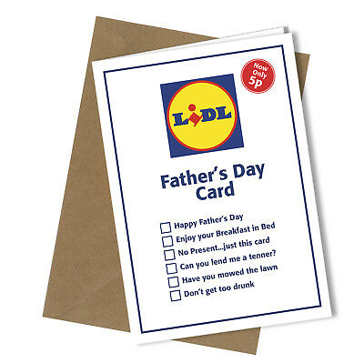 £3.15 • Buy #248 Greetings Card LIDL VALUE Comedy Rude Funny Humour Fathers Day Card