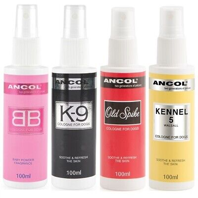 Ancol Dog Puppy Cologne BB K9 Kennel 5 Old Spike Grooming Refresh Spray Perfume  • 8.99£