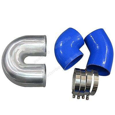 AU98.60 • Buy 4  Cast Aluminium Elbow U 45 90 Deg  Hose Clamp Intercooler Turbo Pipe