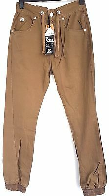 Men's 55 Soul Chinos Trousers Cuff Bottom Tan Size Medium WAS £30 NOW £20 • 20£