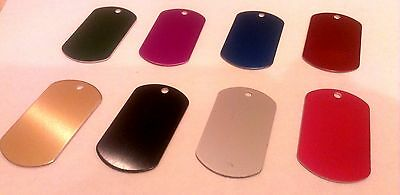 $5.99 • Buy MILITARY STYLE DOG TAGS ID PET TAGS DOUBLE SIDED DIAMOND ENGRAVED (5cm Or 4cm)