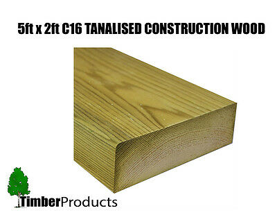 £2.89 • Buy 5x2 CLS Tanalised Timber C16 Structural Graded Studwork Timber Pressure Treated