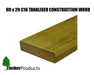 £4.50 • Buy 8x2 CLS Tanalised Timber C16 Structural Graded Studwork Timber Pressure Treated